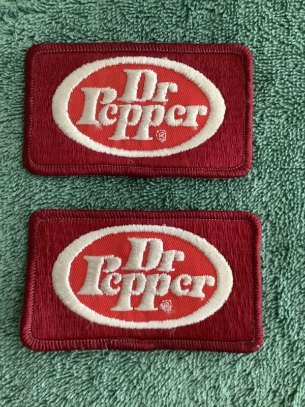Lot 2 Vintage DR PEPPER Soda Uniform Patches NEW