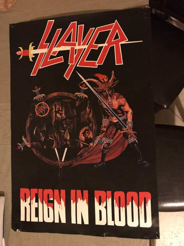 RARE Slayer Reign In Blood Poster 24x36