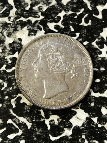 1862 New Brunswick 20 Cents Lot#JM1839 Silver! Beautiful Detail, Cleaned