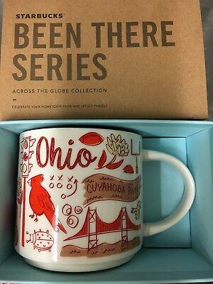 Starbucks Coffee Been There Series Mug 2017 Ohio Cup 14 Oz Nwt   Box