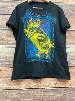 Versace Jeans T-Shirt Men's XL Black Medusa