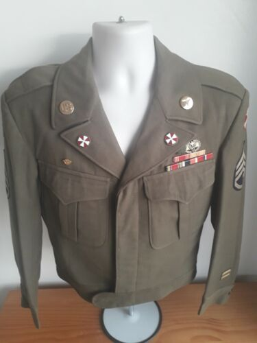 8th Army WW2 Pacific New Guinea Combat Medic Ike Jacket