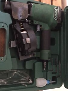 Superior roofing nailer with nail rolls