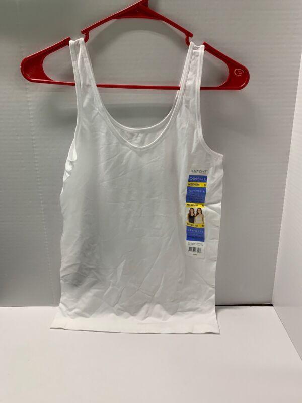 NWT Womens ELLEN TRACY Reversible Scoop V-Neck Camisole Tank Top White Medium