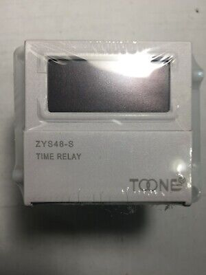 Timer Relay Cycle-delay Digital Display Toone Zys48-s 24vdc 220v New-in-box
