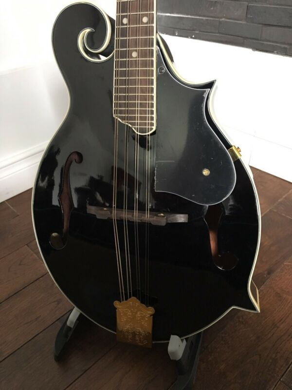 "NEW LEMARQUIS MF-2000 MIDNIGHT BLACK ""F"" STYLE  MANDOLIN"