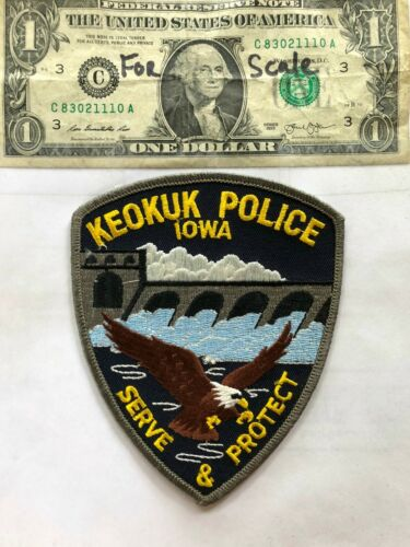Keokuk Iowa Police Patch Un-sewn in great shape