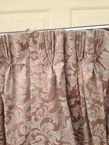 Designer pinch pleat block out curtains & pillows