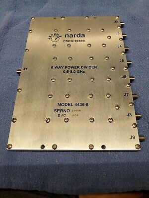 Narda 4436-8power Divide New Free Shipping