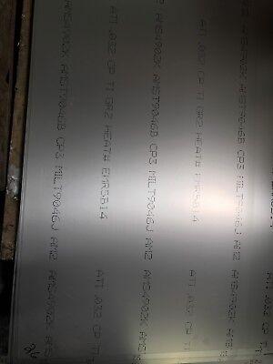Titanium Sheet .032 X 24 X 36 C.p Grade 2