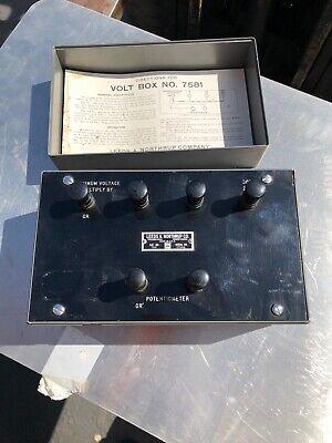 Leeds Northrup Volt Box No. 7581 Potentiometer Uc Berkeley Surplus