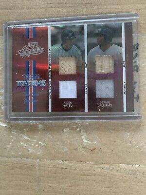 2005 Donruss Hideki Matsui And Bernie Williams Bat And Jersey Card /100