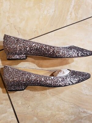 Skimmer 2 Slip - TALBOTS SILVER GLITTER POINTED TOE SLIP ON 1/2