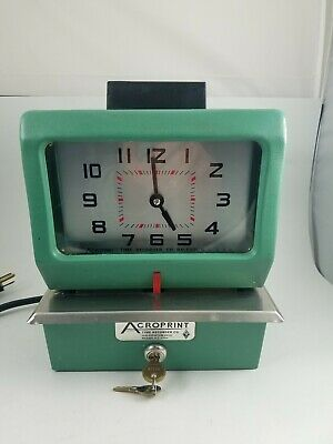 Lathem Manual Time Clock for Day of Week Hours 0-23 and Hundredths ...