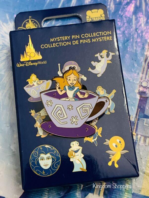 2021 Disney World 50th Anniversary Mystery Pin Set Alice In Wonderland Teacup
