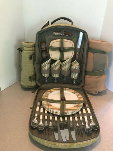 Picnic at Ascot 4 Person Picnic Backpack with Blanket/ Remov