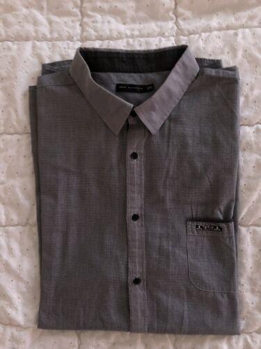Élégante chemise à manches longues mise au green  taille 3xl chinée noir/blanc