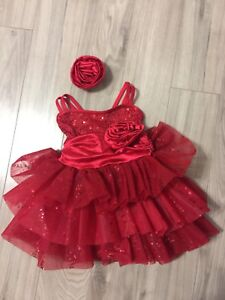 Professional dance tutu and hair clip, worn for 1 hour, size 4