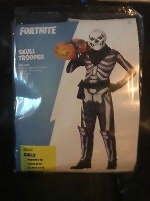 Epic Halloween-kostüm (Fortnite Skull Trooper Halloween Costume Xl Soldout Htf Skin EPIC GAMES cosplay)