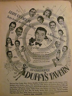 Duffy's Tavern Movie, Full Page Vintage Promotional Ad