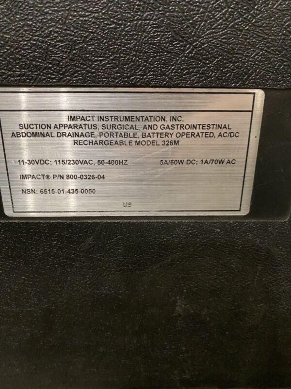 Impact 326M Portable Continuous/Intermittent Surgical Suction Pump Aspirators