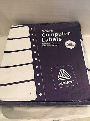 Avery Matrix Printer Address Labels 3 Across White 15000 Per Box Ave4031-300
