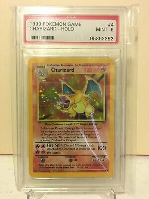 1999 Pokemon Charizard Base Set Unlimited Holo # 4/102 PSA 9 MINT! (05352252)