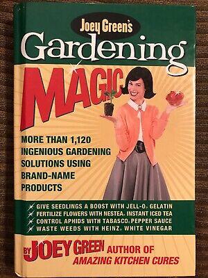 Joey Green's Gardening Magic - Like New Hardcover Ingenious Gardening Solutions Joey Greens Gardening Magic