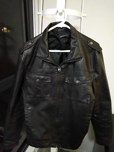 Zara men's leather jacket size 42 St Leonards Willoughby Area Preview