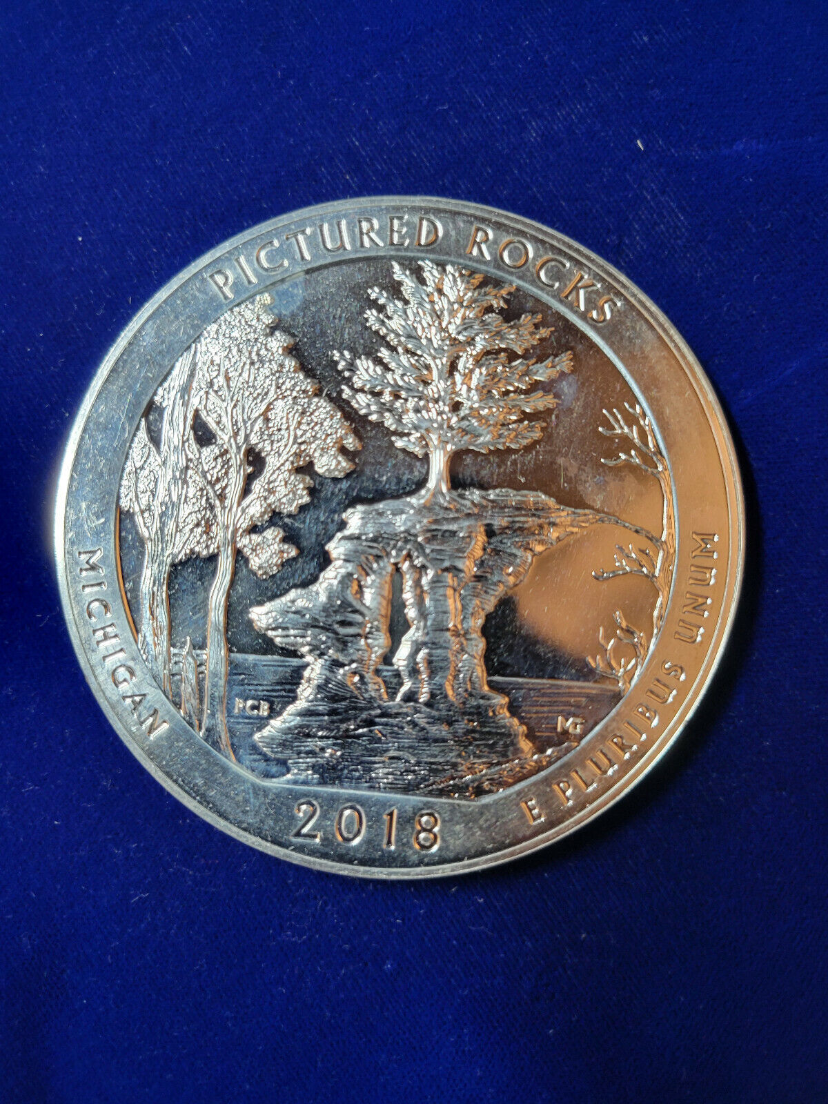 2018 America The Beautiful Pictured Rocks 5oz Silver Coin In Capsule - $179.99