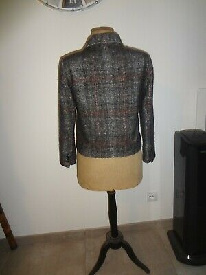 Zara l 40 42 veste chic original gilet bolero tunique haut manteau trench imper