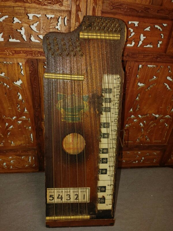Antique Vintage Wood Pianoette Pianolin Autoharp  Mt Pleasant Iowa