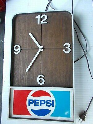 Vintage 70's Pepsi Electric Clock For Parts Or Repair