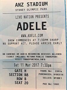 Adele Concert Sydney Sat 11 March 2017 Franklin Gungahlin Area Preview