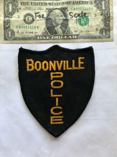 Very Rare Old Boonville Indiana Police Patch Un-sewn great shape