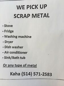 SCRAP METAL PICK UP OF ANY TYPE