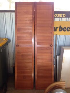 2 x pairs of timber / wooden louvre doors - MAKE AN OFFER! Craignish Fraser Coast Preview