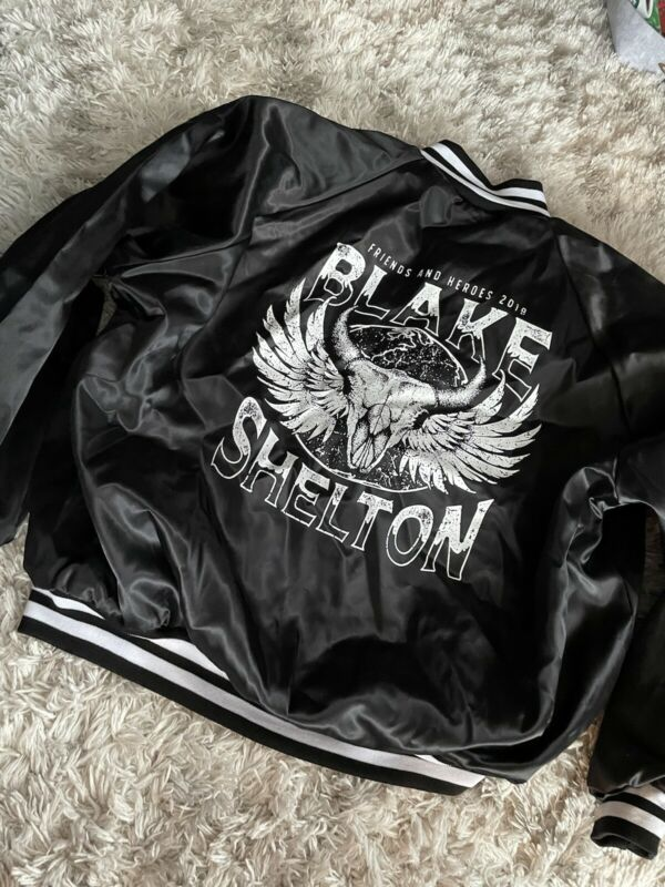 Blake Shelton 2019 Friends & Heroes Tour Jacket satin