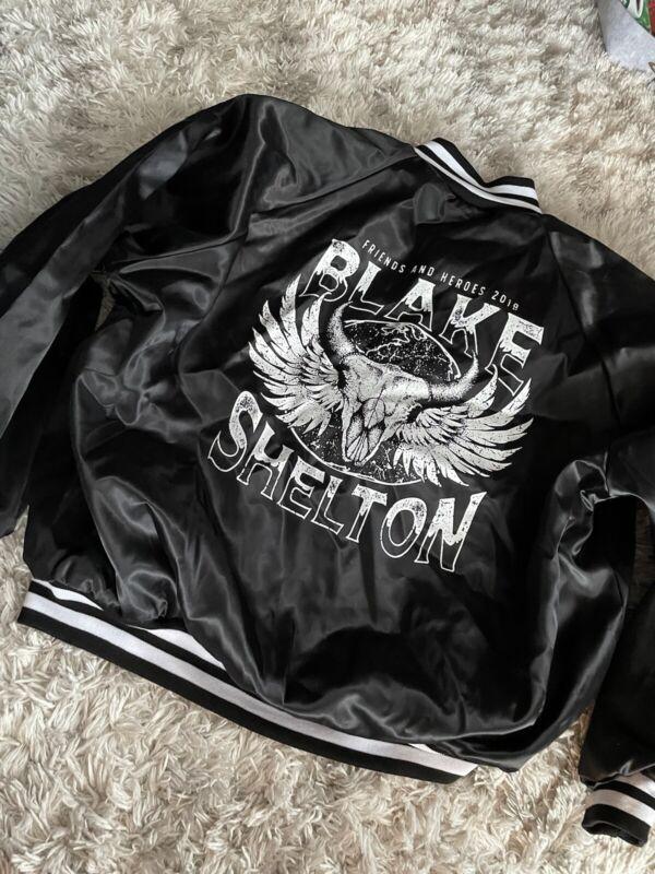 Blake Shelton 2019 Friends & Heroes Tour Jacket satin