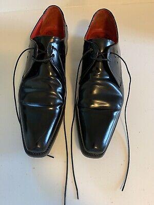 Jeffrey West Size 10 & Half Black Leather