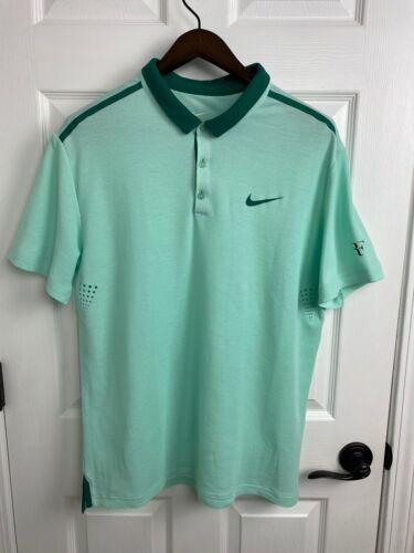 Roger Federer Nike 2014 Cincinnati Polo Shirt Mens Size XL RF Tennis RAFA