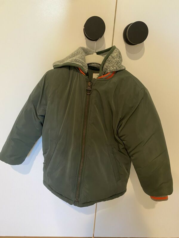 Zara Boys Puffer Jacket 3/4 Green