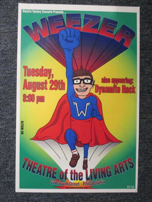 """Weezer Concert Poster Philadelphia August 29th 11"""" X 17"""" ORIGINAL !"""