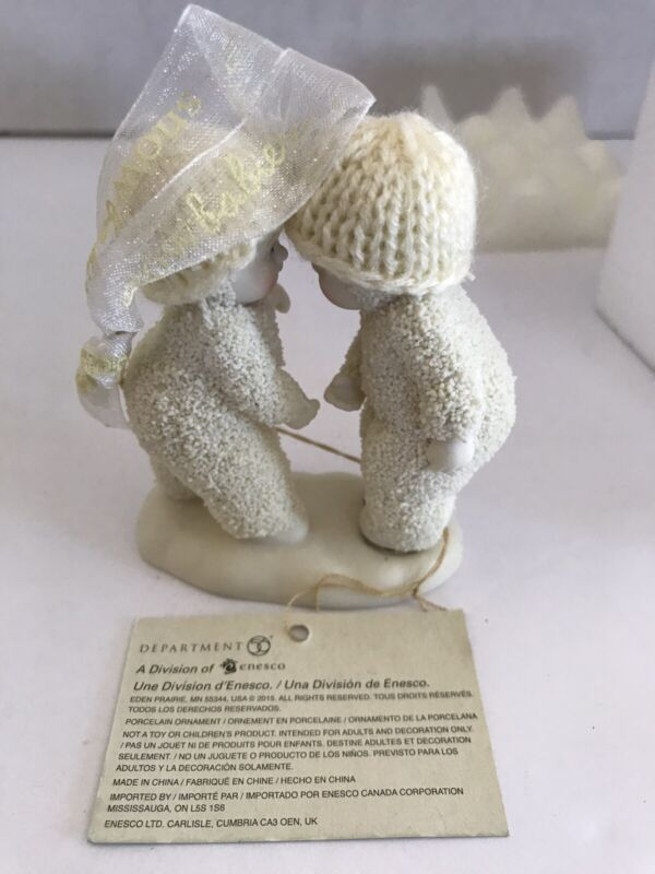 """DEPT 56 SNOWBABIES 2015 """"MY BFF"""" PORCELAIN TREE ORNAMENT #4045802 NEW WITH TAGS"""