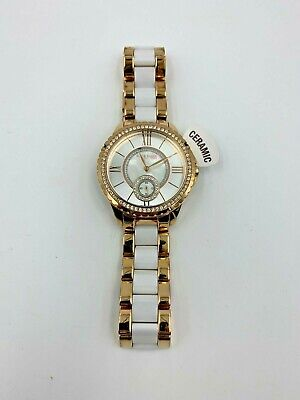 Anne Klein 12/2310RGWT Women's 38mm Crystal Accent MOP Dial Watch  *SHIPS FREE*