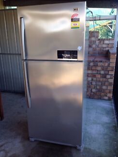 Lg stainless Steele fridge  Bethania Logan Area Preview