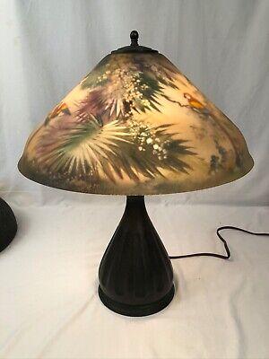 Decorative Arts Reverse Painted Lamp Vatican
