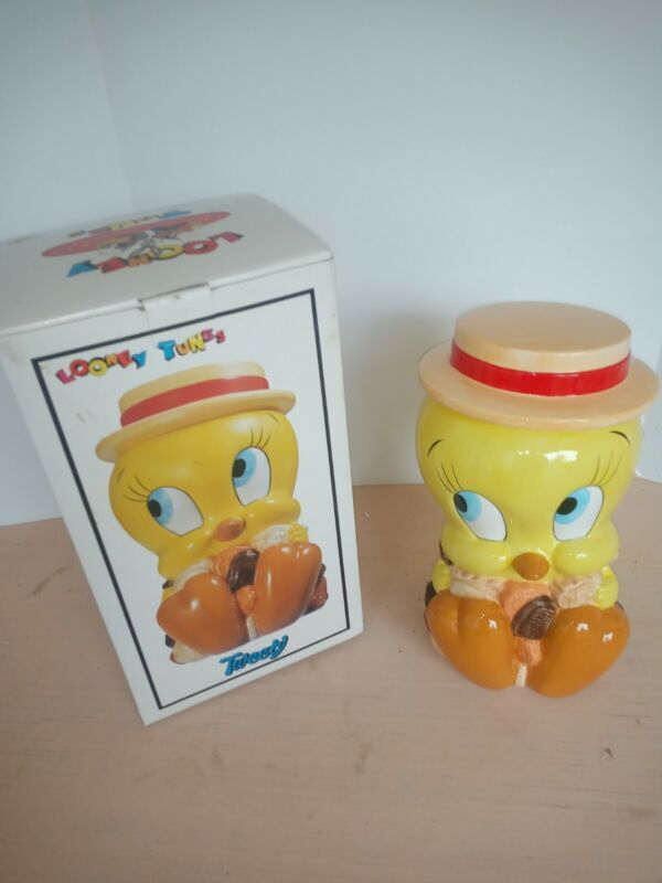 New!! 1993 Cookie Jar, Looney Tunes Tweety Bird with box and inserts