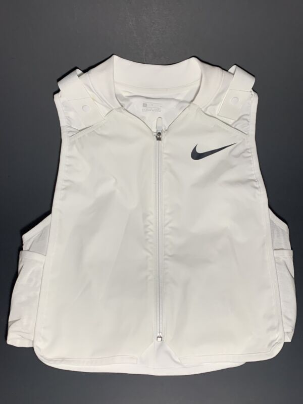 NIKE PRECOOL RUNNING COOLING VEST WHITE SIZE MEDIUM (CK6589-100) WITH PACKS