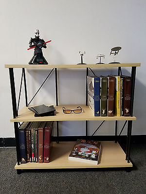 Bookcase Bookshelf Furniture 3 Shelf Bookcase Office Home Furniture (Birch)*